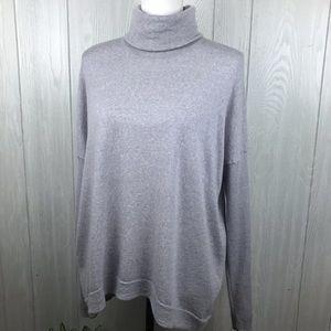 Alex Marie purple wool turtleneck knit sweater